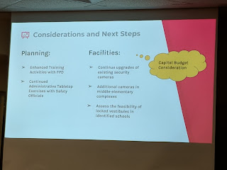 next steps including future budget requirements
