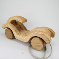 PA41, Wooden Pull along Car I, Lotes Toys