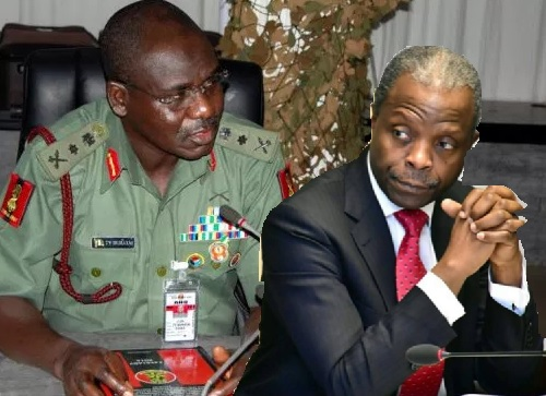 Image result for osinbajo vs military