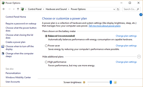 Custom Power Plan