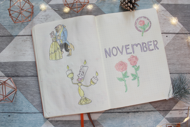 Big bullet journal catch up: themed months and seasonal spreads