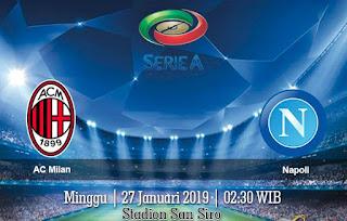 Prediksi AC Milan vs Napoli 27 Januari 2019