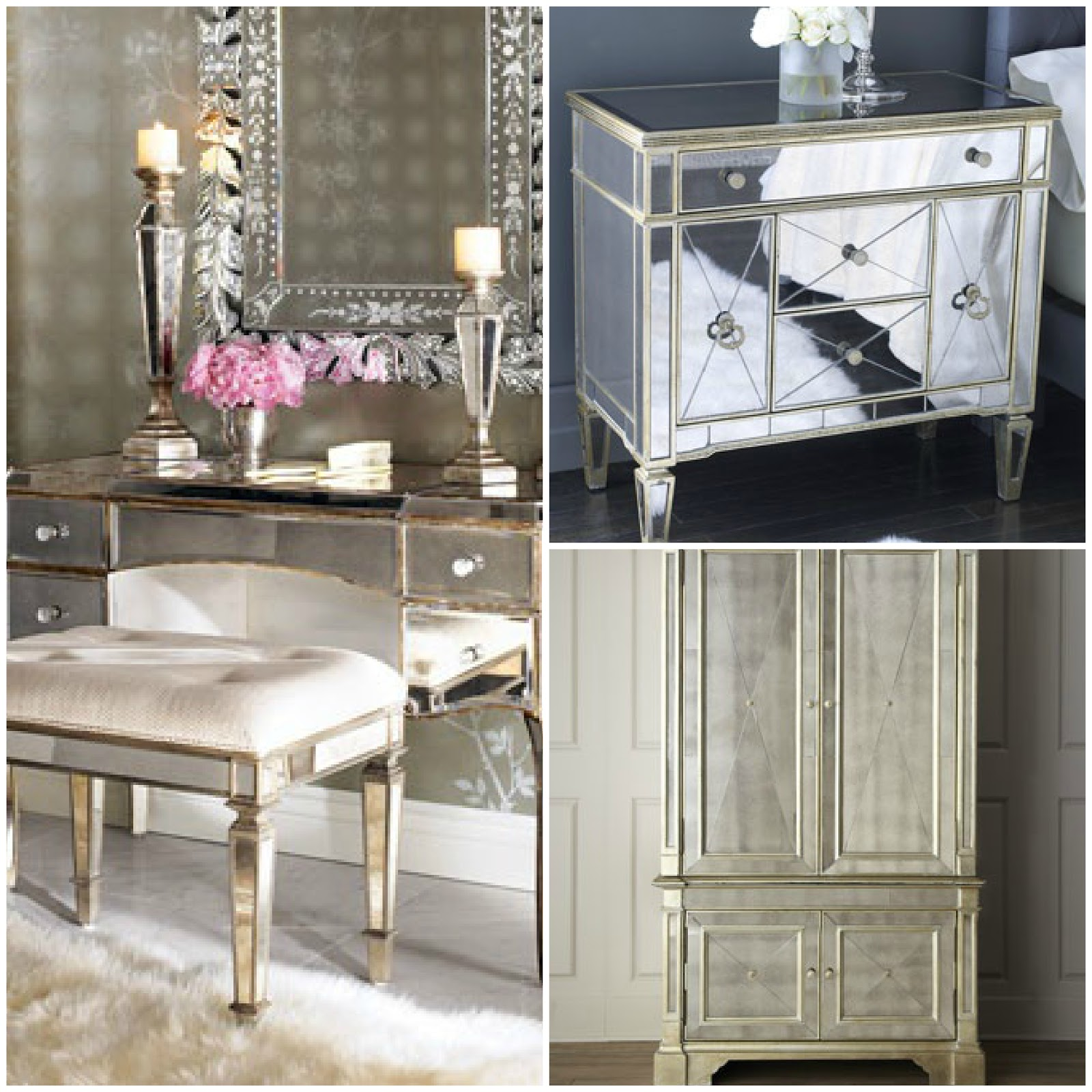 Mirrored Furniture Bedroom: Un Coup D'aile: Mirrored Furniture