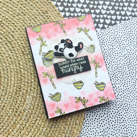 Playful Pandas Card by July Guest Designer Milene Tiberius | Playful Pandas Stamp Set by Newton's Nook Designs #newtonsnook #panda #handmade