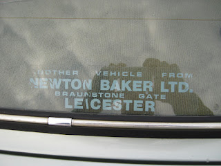 Newton Baker Ltd rear window sticker