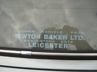 Newton Baker Ltd rear window sticker