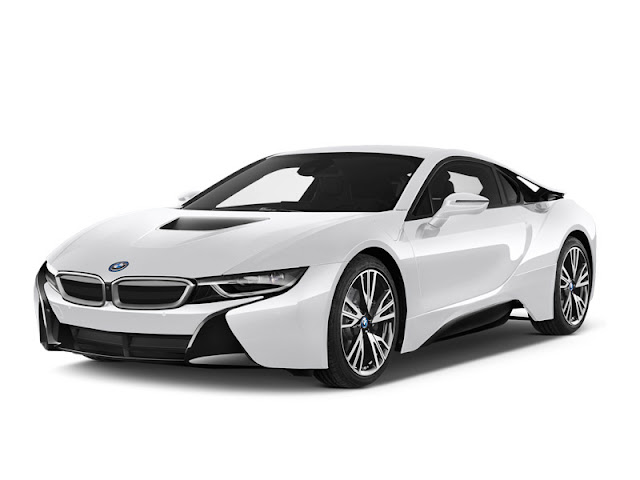 white bmw i8 png