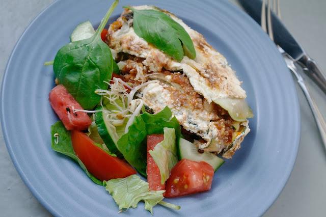 zucchinilasagne med kyckling