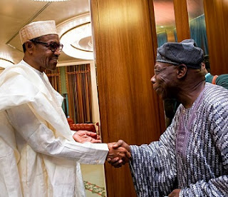 Buhari Obasanjo In Secret Meeting At Aso Rock, See Photos