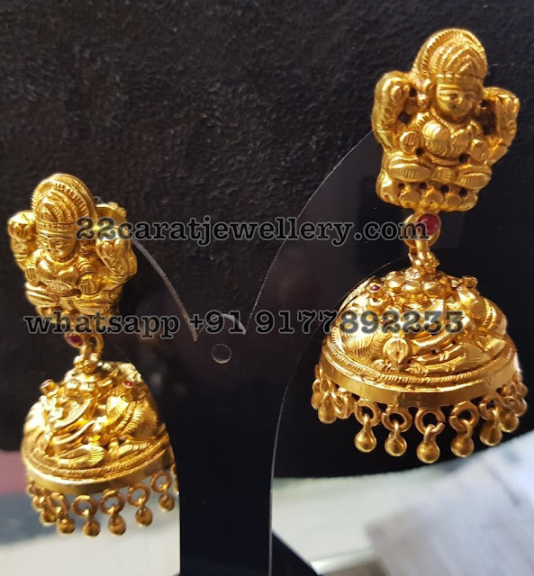 Light weight Nakshi work Silver Jewellery