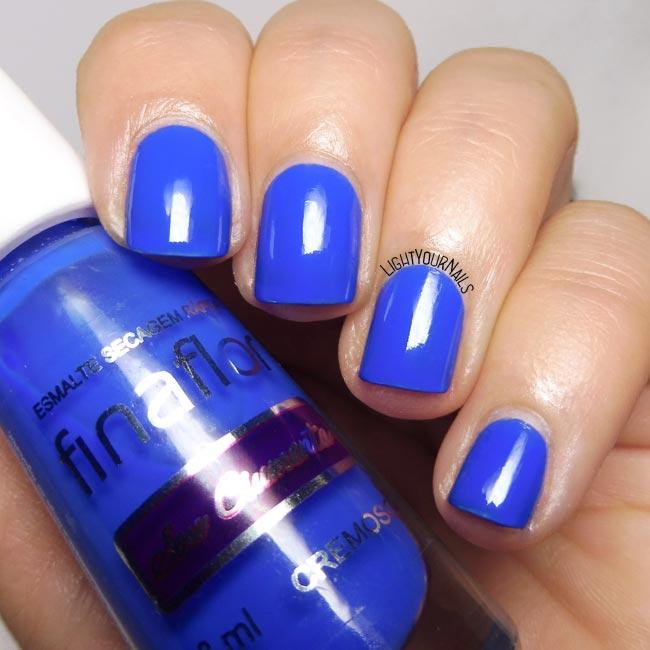 Smalto blu Finaflor Sou Ciumenta blue nail polish