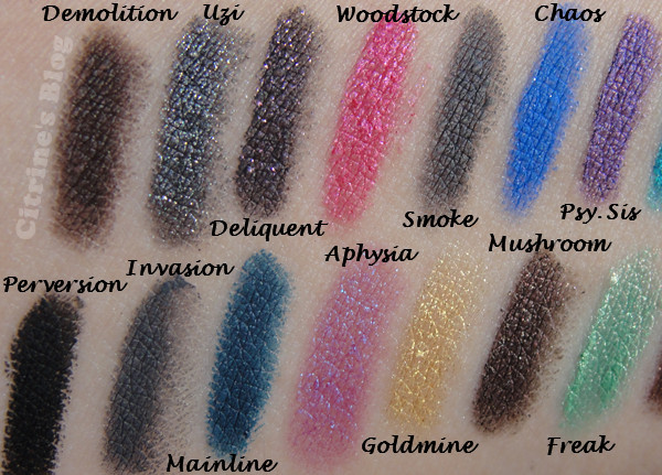 urban decay 24 7 glide on eye pencil eyeliner swatches