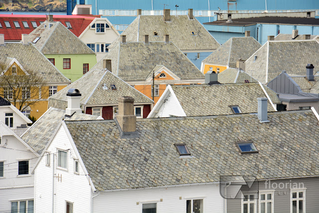 Norweskie domy w Haugesund. Atrakcje Haugesund i regionu Rogaland