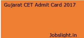 Gujarat CET Admit Card