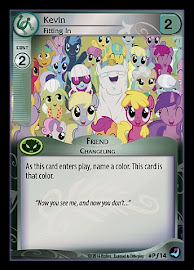 My Little Pony Kevin, Fitting In High Magic CCG Card