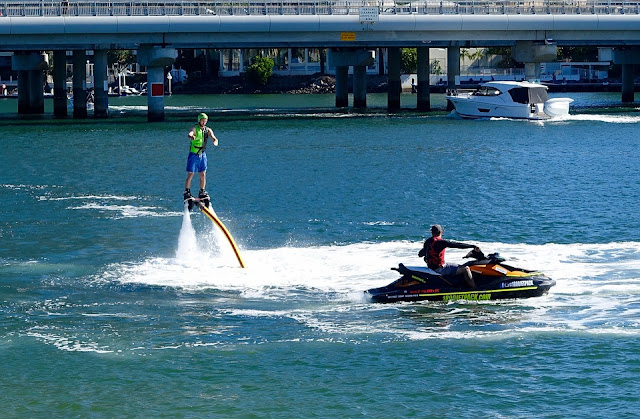 Flyboarding and Jet Pack flying on Oahu