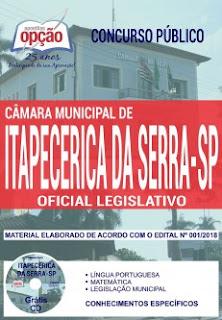 apostila para o cargo de Oficial Legislativo da Câmara Municipal de Itapecerica da Serra-Sp