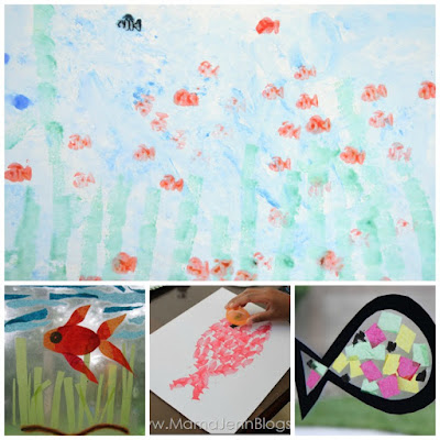 Swimmy crafts and activities, part of Leo Lionni author study