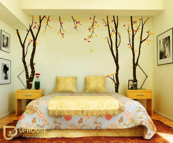 Phòng ngủ màu vàng kem 10