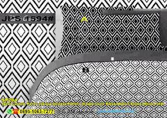 Sprei Custom Katun Jepang Dewasa Pattern Simple Garis Kotak Mono Chrome Hitam Putih