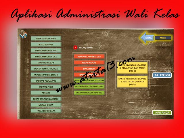 Download Aplikasi Administrasi Guru/Wali Kelas ( AWAK ) SD 2016/2017 Lengkap