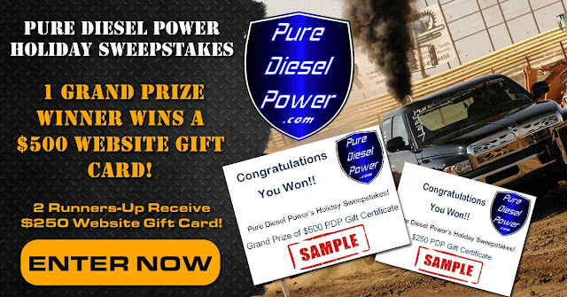 Pure Diesel Power Holiday Sweepstakes