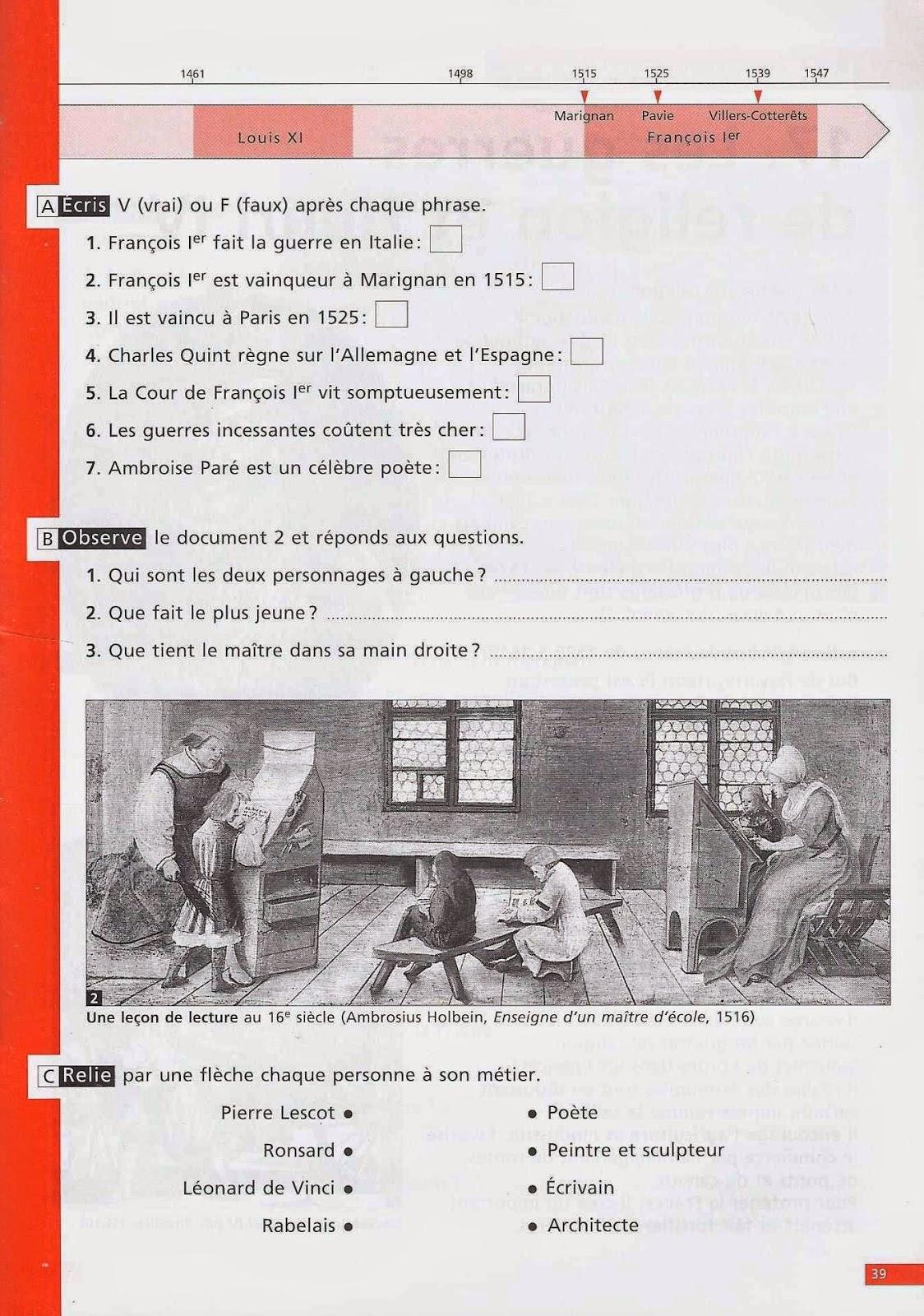 manuels anciens les temps modernes histoire de cm1