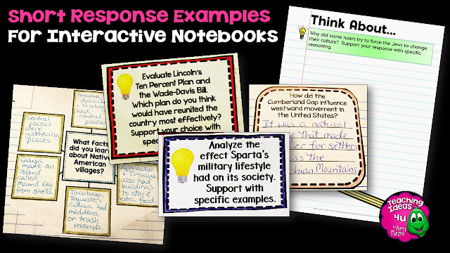 Learn how to use students' interactive notebooks for formative assessments.