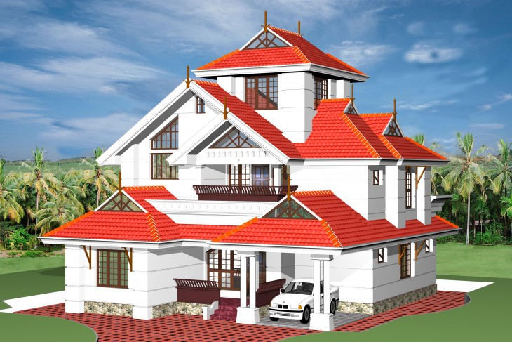 fresh 3d views of kerala style home plans