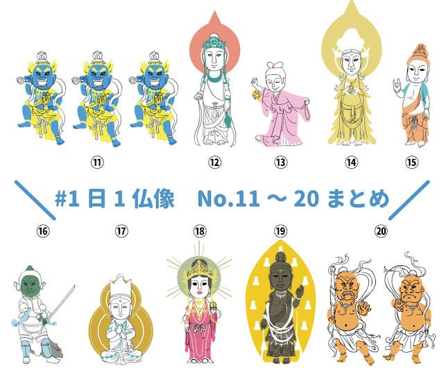 1日1仏像 仏像イラスト デフォルメ 奈良 国宝 重要文化財 重文