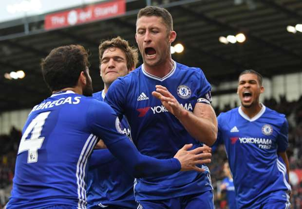Chelsea FC Gary Cahill Celebrates