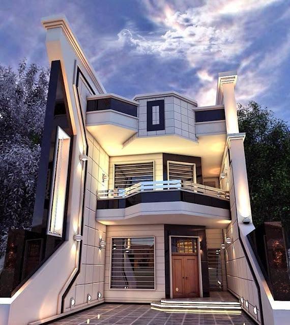 Modern Home Exterior Design Ideas 2017:  Modern Residences Exterior Small Villas Designs Ideas