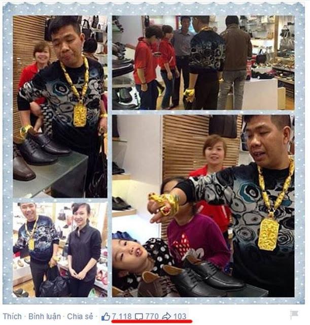 Đại gia N X T đeo đầy vàng từng gây xôn xao năm 2015
