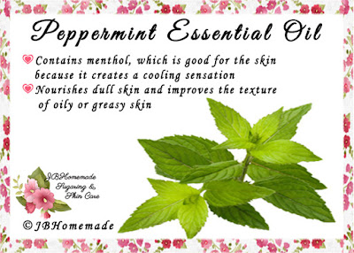 Peppermint ♦Contains menthol, which is good for the skin because it creates a cooling sensation ♦Nourishes dull skin and improves the texture of oily or greasy skin