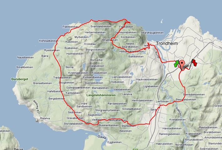 kart over byneset Ut på tur: På sykkel rundt Byneset. kart over byneset