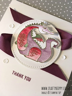 Create a Puff the Magic Dragon card using the Magical Day stamp set from Stampin' Up!