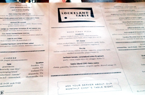 A review of Lockeland Table in Nashville Tennessee
