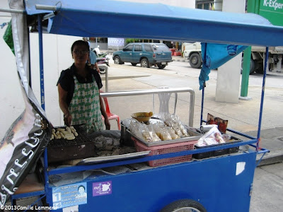 BBQ-ed banana vendor and cart