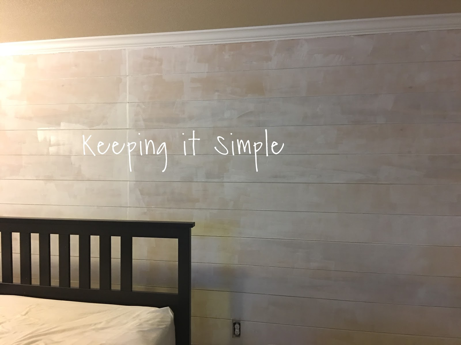 Master Bedroom Up Or Down keeping it simple: how to build a shiplap in a master bedroom for $100