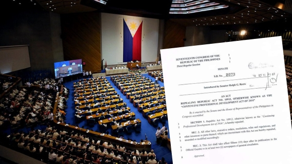 Legislative process on how Senate Bill No. 2073 can abolish CPD law