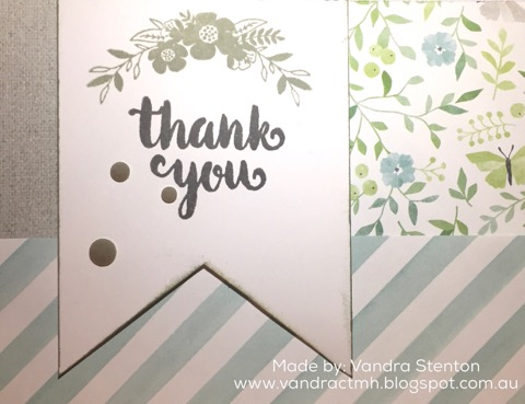 #CTMHChelseaGardens, Chelsea Gardens, #CTMHBasicFundamentals, Enchantment Fundamentals, #CTMHEnchantmentFundamentals, Thankful, thank you, pocket cards, pocket, denim, stripes, Stamp of the Month, February, 3D Foam, S1802, Vandra, flowers, Birthday, Sunshine