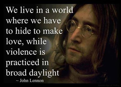 John Lennon Quote on Love and Peace