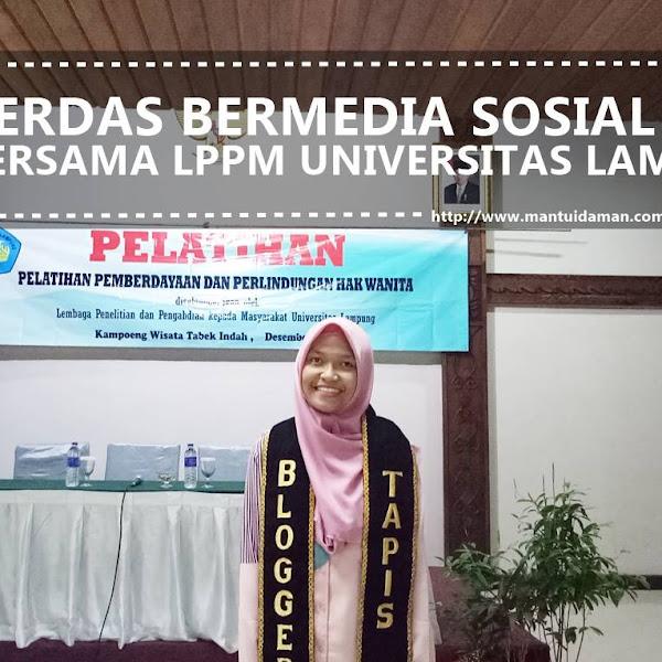 Cerdas Bermedia Sosial Bersama LPPM Universitas Lampung