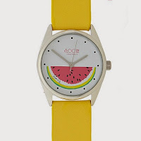 Ladies yellow melon dial watch