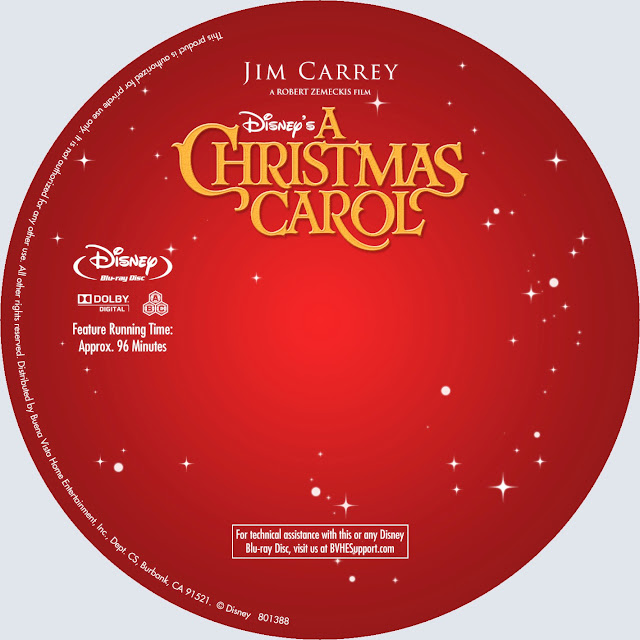 A Christmas Carol Bluray Label