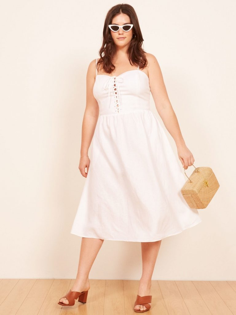 Reformation 'Serena' Dress in White