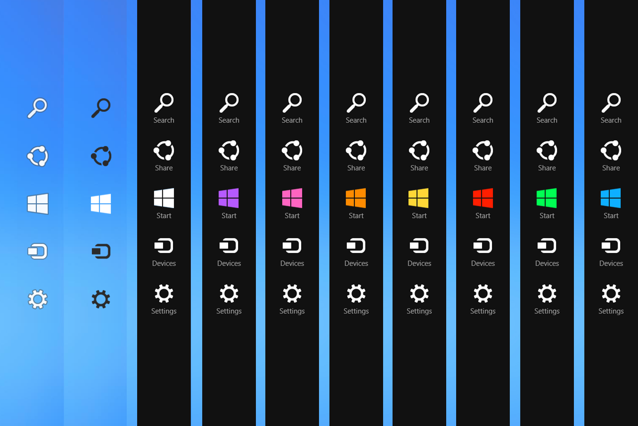 charm menu pada windows 10