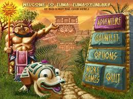 menu zuma games
