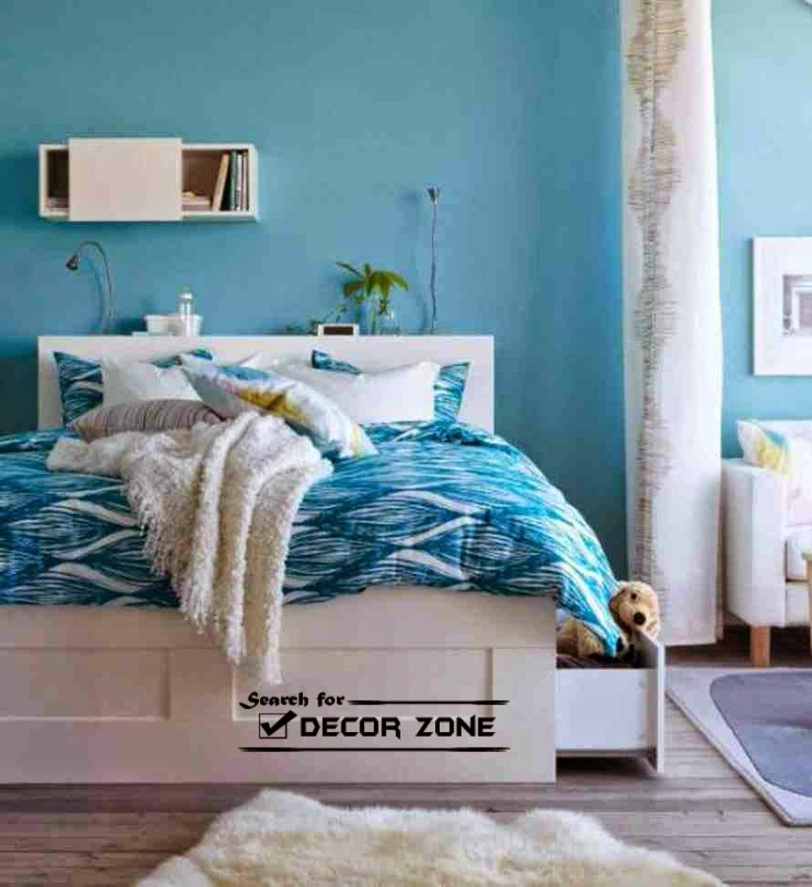 Small bedroom paint colors how to choose 10 ideas - Blue bedroom paint ideas ...