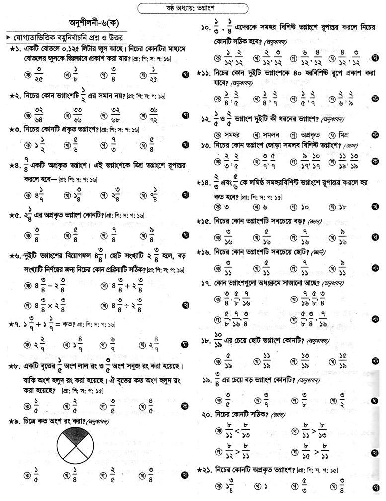 PECE Math Sort Question Suggestion 2018 Chapter - 06